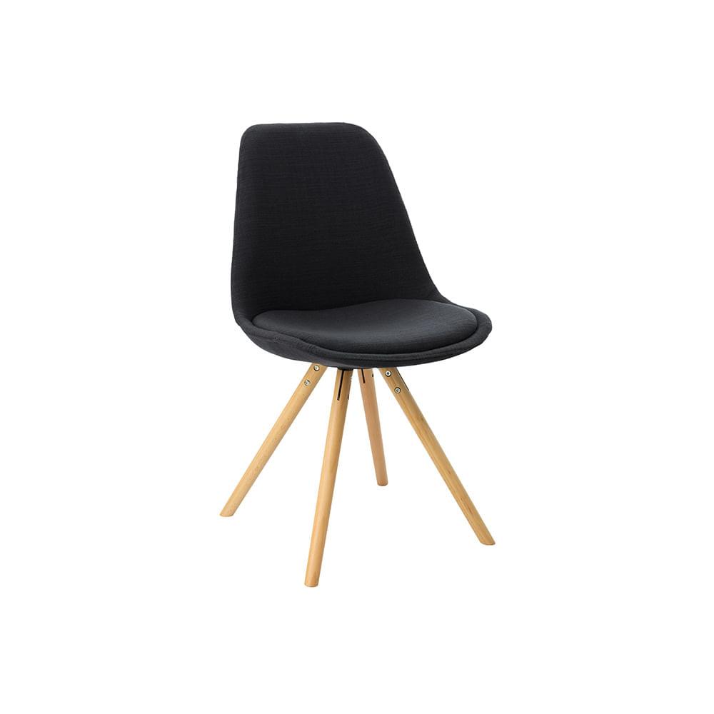 Cadeira Hi Base Madeira Linho Preto - Dc211g(v)