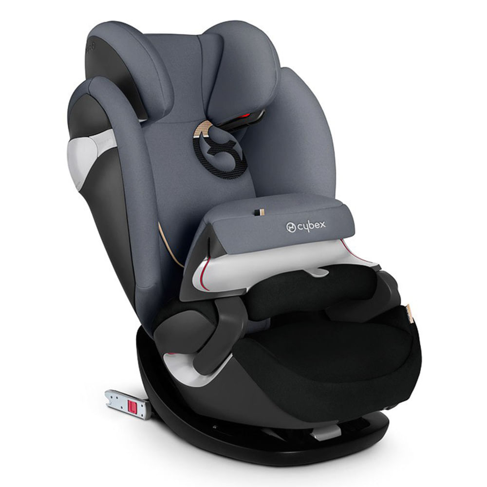 Cadeira P/Auto Pallas M-Fix Preto/Cinza - Cinto do Carro e Isofix (9 A 36kg)