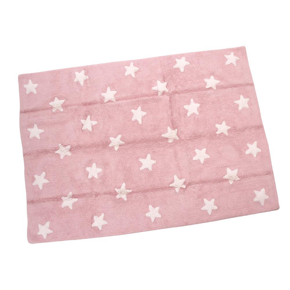 Tapete Pink Stars White 1,20m x 1,60m