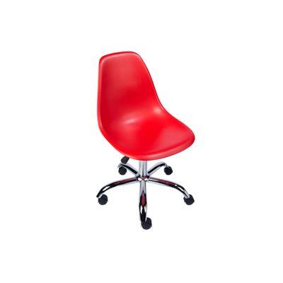 Cadeira Eiffel Giratória em PP Vermelho