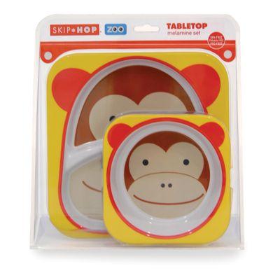 Conjunto de Pratos Macaco Skip Hop