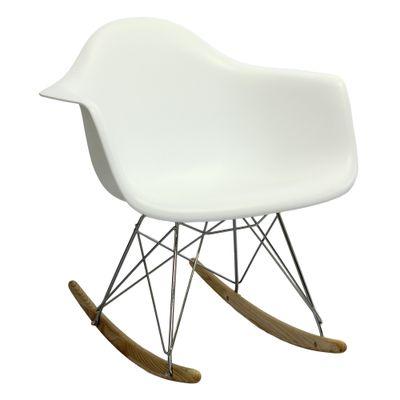 Cadeira Eiffel Com Braço Balanço Branco