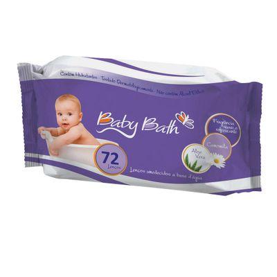 Lenço Umedecido Baby Bath 72 unidades