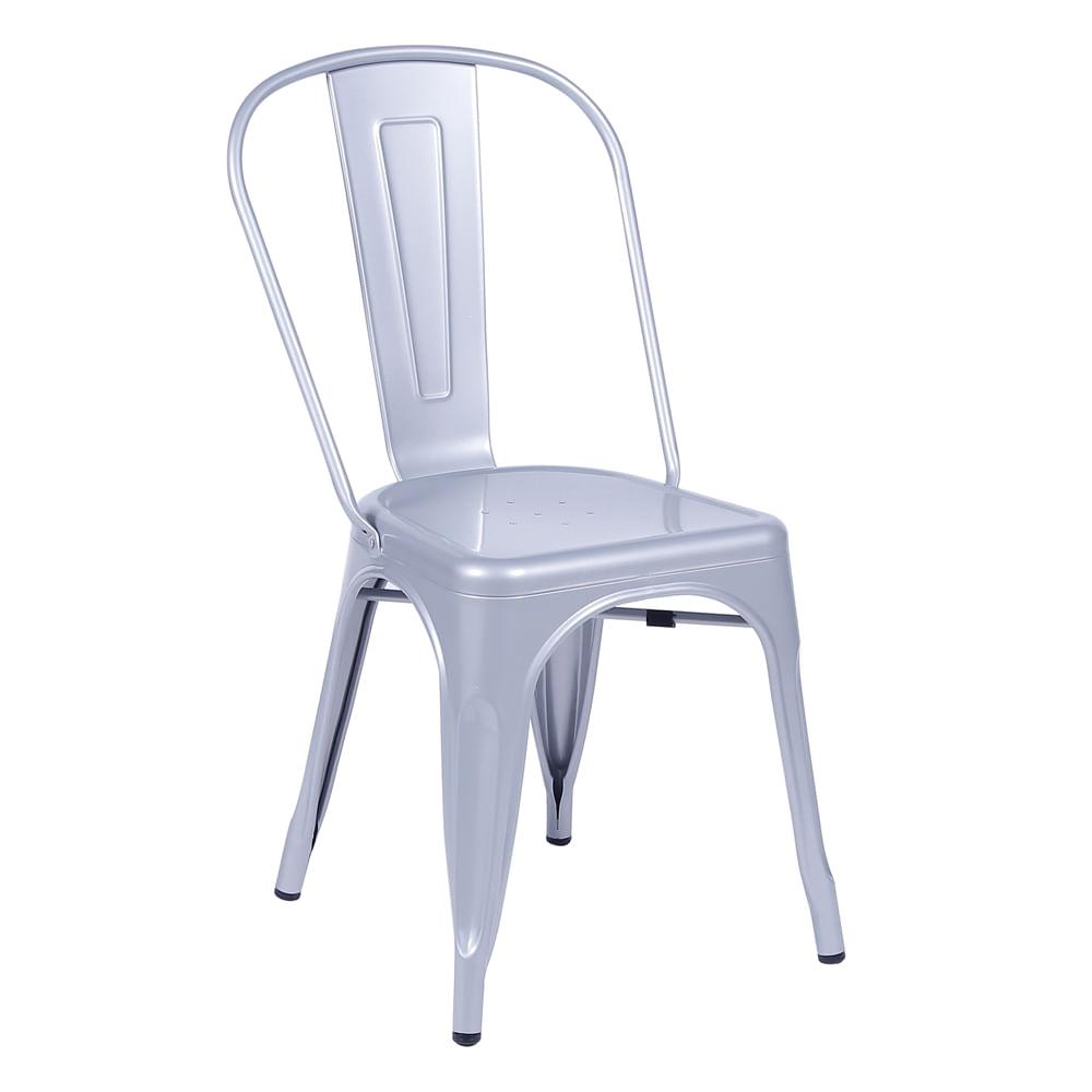 Cadeira Tolix Cinza Metálico Nova Versão - Or 1117
