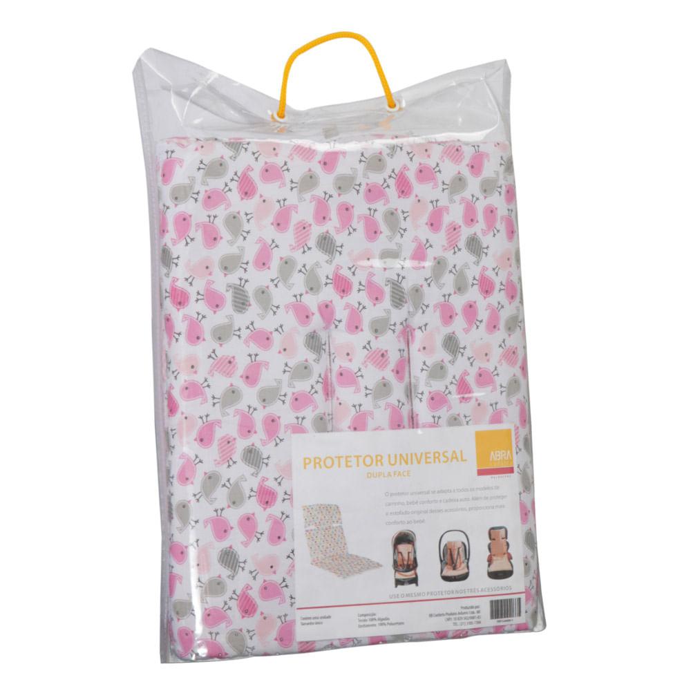 Protetor Universal Passarinhos Rosa e Cinza