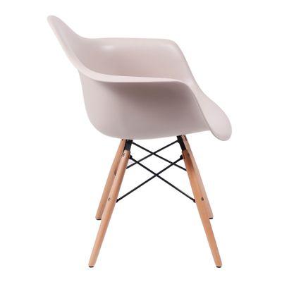 Cadeira Eiffel Com Braço Fendi Base Madeira