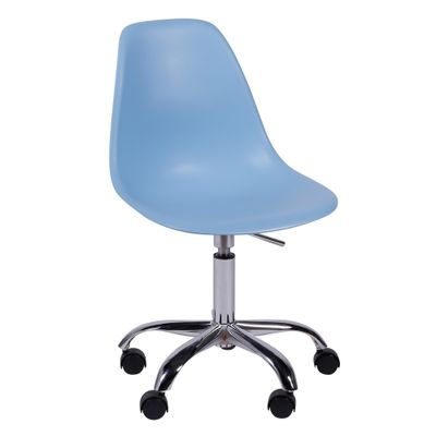 Cadeira de Escritório Eames Eiffel Giratória Azul