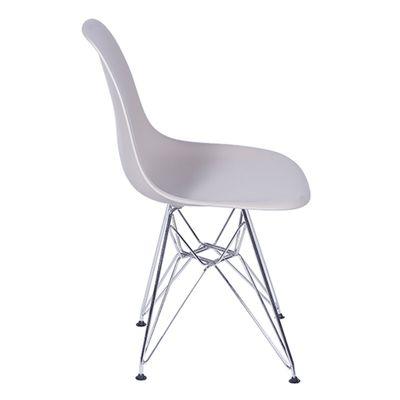 Cadeira Eames Eiffel Fendi com Pés Cromados