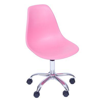 Cadeira de Escritório Eames Eiffel Giratória Rosa