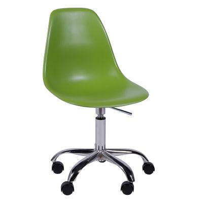 Cadeira de Escritório Eames Eiffel Giratória Verde