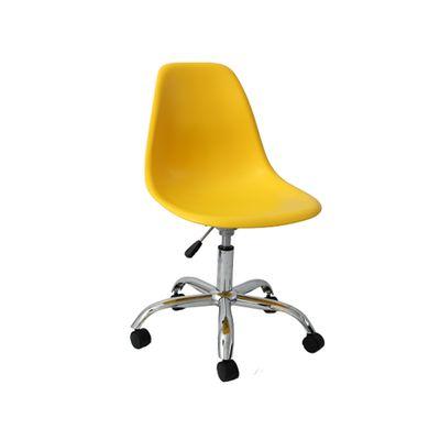 Cadeira de Escritório Eames Eiffel Giratória Amarela