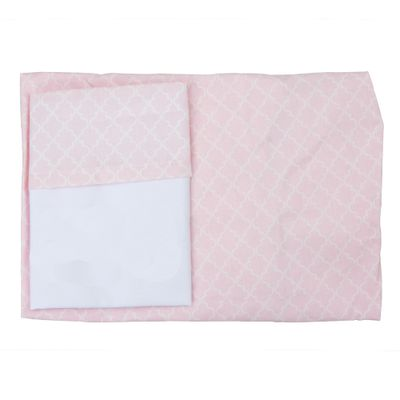 Conjunto-Lencol-de-Mini-Berco-C-elastico-2-pcas-100--Algodao-Arabesco-Rosa