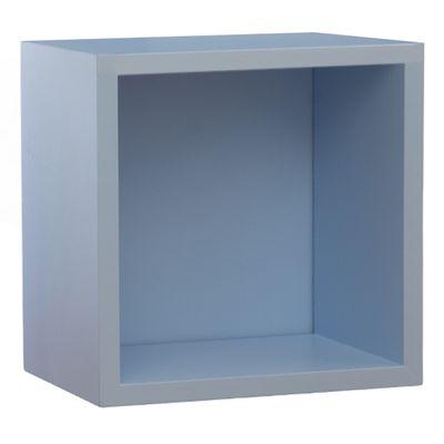 Prateleira-Quadrado-Azul-bebe-Fosco--28cm-x-28cm-x-16cm-