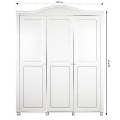 Armario-3-Portas-Victoria-Branco-Fosco