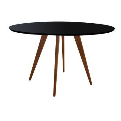 Mesa-Square-Redonda-Tampo-Vidro-Color-Preto-110cm