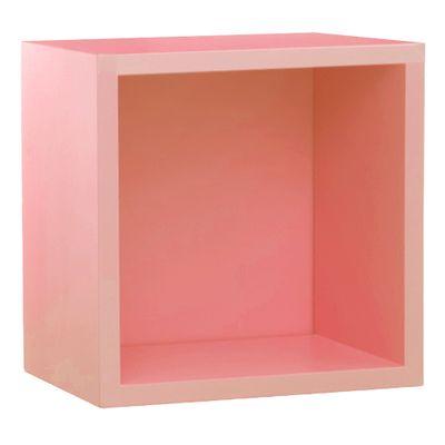 Prateleira-Quadrado-Rosa-bebe-Fosco--28-cm-x-28-cm-x-16-cm-