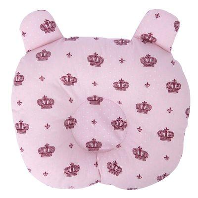 Travesseiro ursinho modelador coroa rosa