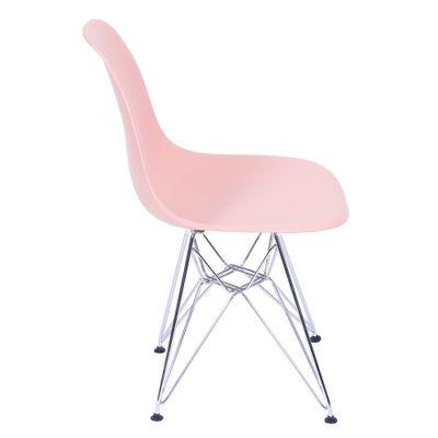 Cadeira Eiffel em PP Salmon com Base Cromada - OR 1102