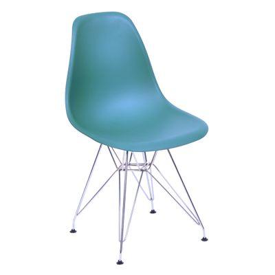Cadeira Eiffel em PP Azul Petróleo com Base Cromada - OR 1102
