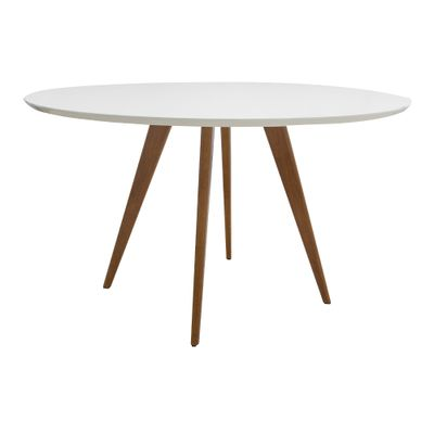Mesa-de-Jantar-Square-Redonda-Branco-Fosco-90cm---4-Cadeiras-Noga-Branca