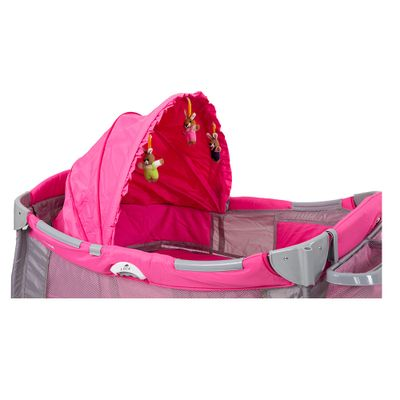 Berço Cercado Sólis Super Luxo Prime Baby Capota + Trocador Rosa