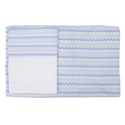 Conjunto-Lencol-de-Mini-Berco-C-elastico-2-pcas-100--Algodao-Chevronzinho-Azul---Abra-Cadabra