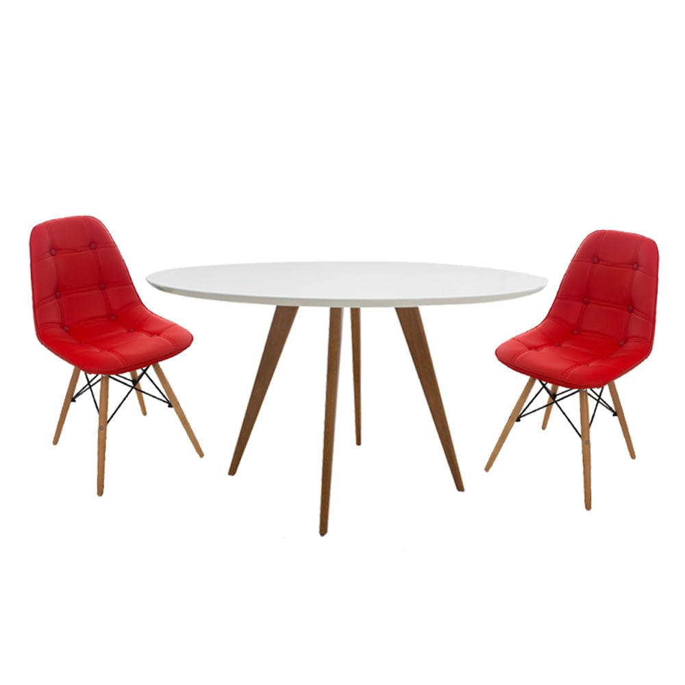 Conjuto-Mesa-Square-Redonda-Tampo-Branco-Fosco-80-com-2-Cadeiras-Eiffel-Botone-Vermelho