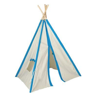 Cabana-Infantil-Poa-Branco-e-Azul-Ceu---Cru
