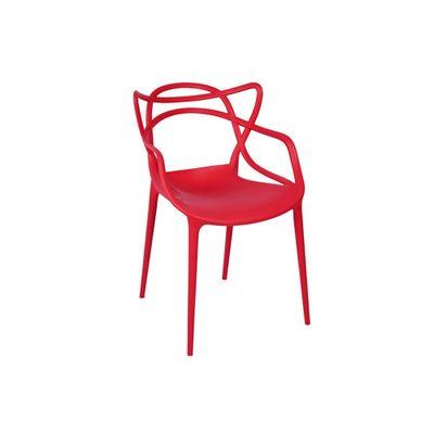 Conjunto-Mesa-Square-Quadrada-Tampo-Branco-Fosco-90x90-com-2-Cadeiras-Allegra-Vermelha