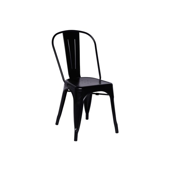 Conjunto-Mesa-Square-Redonda-Tampo-Branco-Fosco-Diametro-88cm-com-4-Cadeiras-Tolix-Preta-Nova-Versao