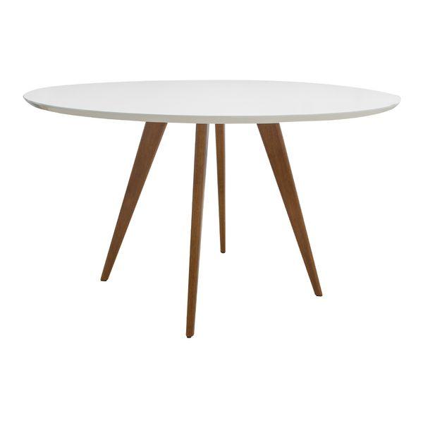 Conjunto-Mesa-Square-Redonda-Tampo-Branco-Fosco-Diametro-88cm-com-4-Cadeiras-Allegra-Vermelha
