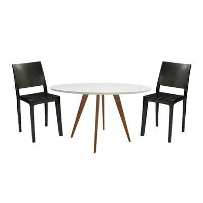 Conjunto-Mesa-Square-Red-Tampo-Branco-Fosco-80cm-com-2-Cadeiras-Zeus-Plus-Preto