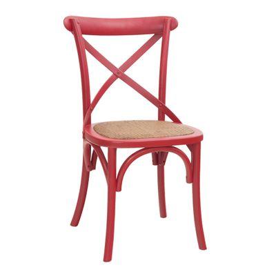 Cadeira Kat Pintura Rústica Vermelha Nova Versão - Or 1150