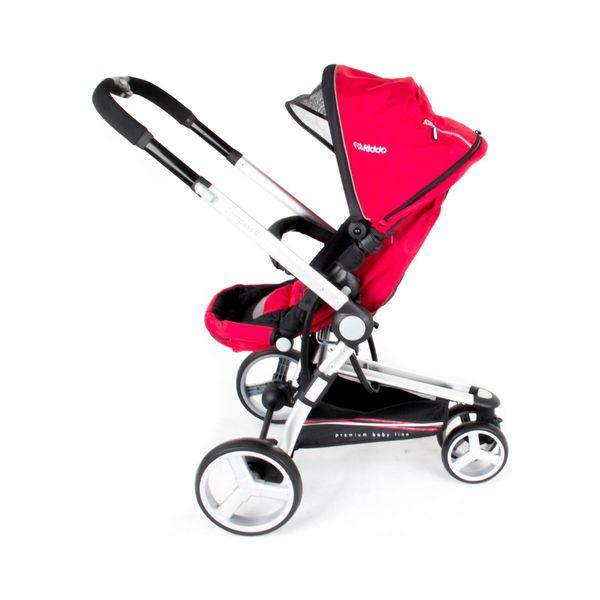 Carrinho de Bebê Triciclo Compass II Revers. Alum. 3 Pos. Vermelho Lenox Kiddo