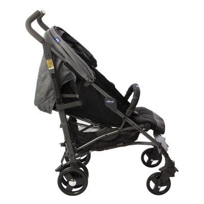 Carrinho de Bebê Lite Way Basic 2 Coal Com 5 Posições e Barra de Proteção
