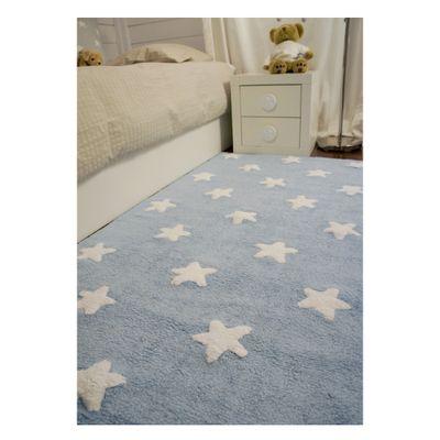 Tapete Blue Stars White 1,20m x 1,60m