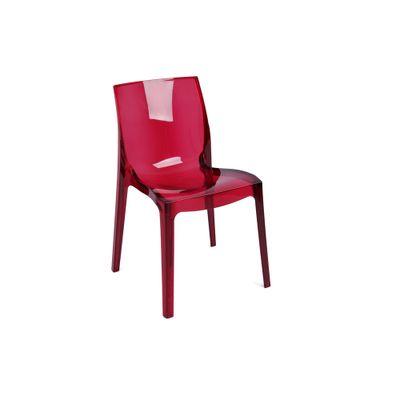 Cadeira Feme Policarbonato Vermelha - Femme Fatale