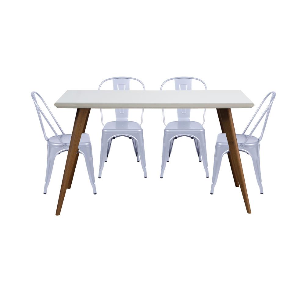 Conjunto-Mesa-Square-Retangular-Tampo-Branco-Fosco-135-com-4-Cadeiras-Tolix-Cinza-Metalico