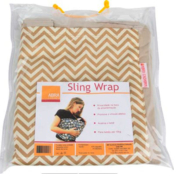 Carrega Wrap Sling Zig Zag Caqui