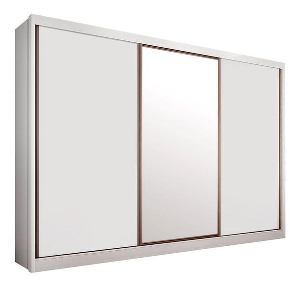 Guarda Roupa Genova 2 portas deslizante e 1 porta com espelho com 6 gavetas