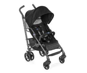 Carrinho de Bebê Lite Way Basic 3 com 5 Posições Jet Black- 15kg