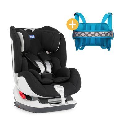 Cadeira-para-auto-Seat-Up-3-posicoes-Jet-Black-com-apoio-de-Cabeca-NapUp-Azul