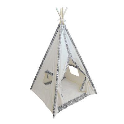 Cabana Infantil Chevron Preto e Branco - Cru