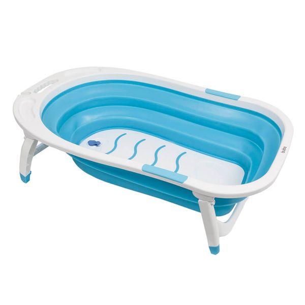 Banheira-Baby-Dobravel-Azul