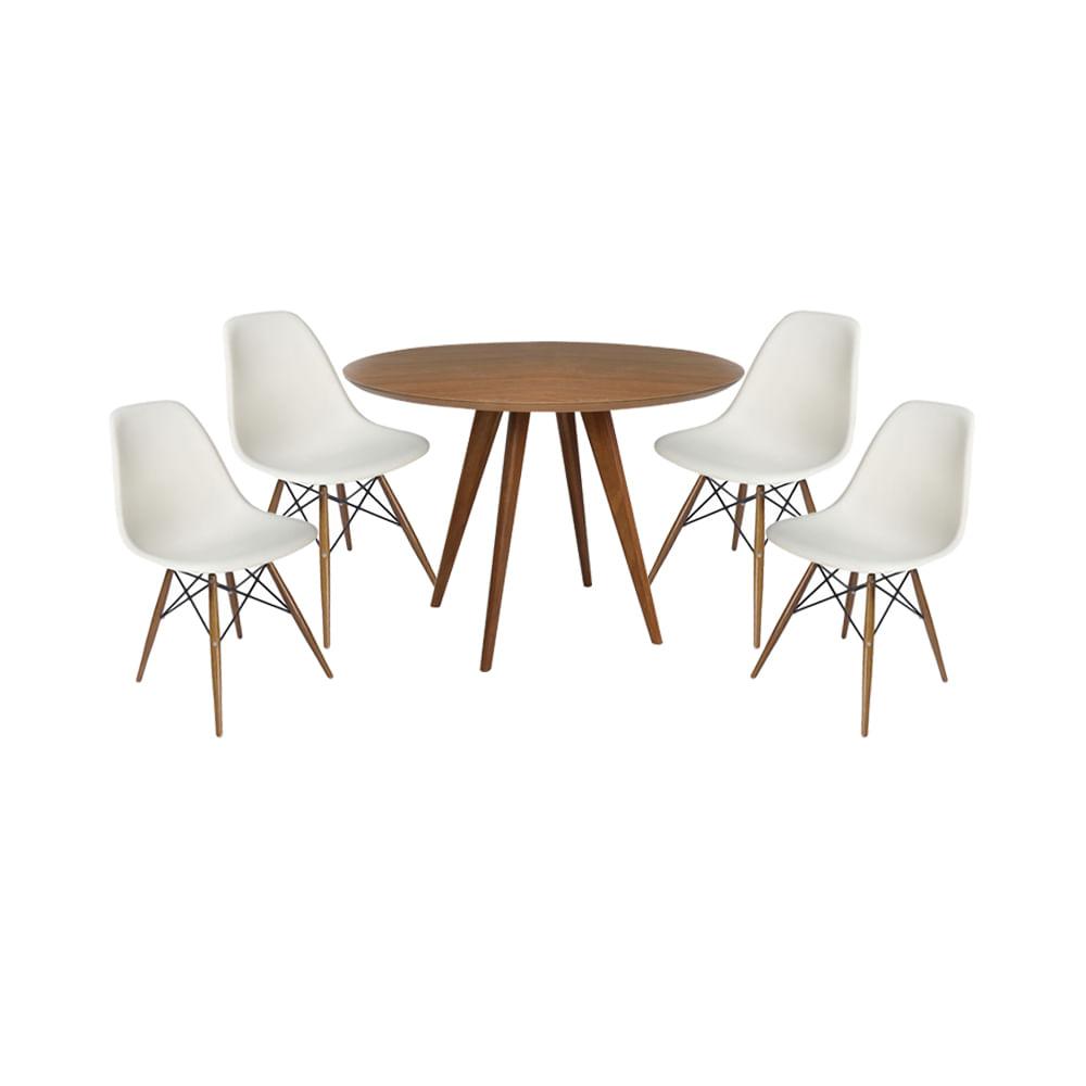 conjunto-mesa-square-louro-freijo-80cm-com-4-cadeiras-eiffel-branca