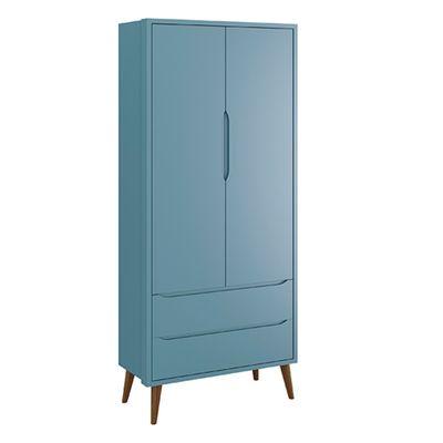 Armario-Retro-Theo-2-portas-com-Kit-Pe-em-Madeira-Azul