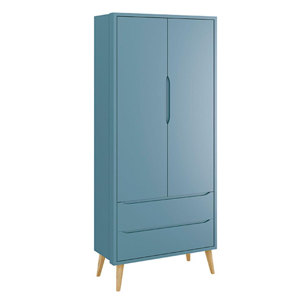 Armario-Retro-Theo-2-portas-com-Kit-Pe-em-Madeira-Natural-Azul