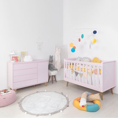 Kit-Quarto-Infantil-Retro-Rosa–Berco-Comoda1
