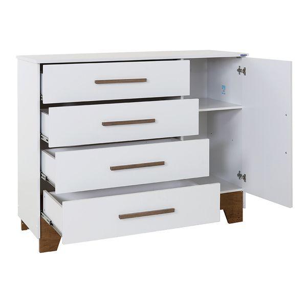 comoda-malu-4-gavetas-com-porta-branco-fosco-aberta