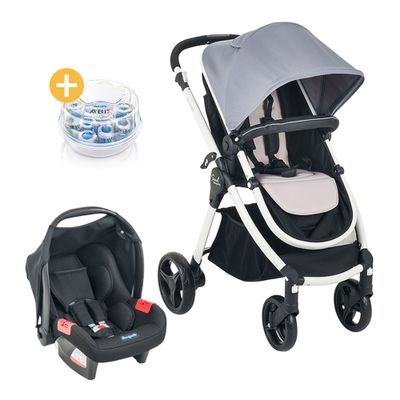 Travel-System-Aluminio-Soul-Burigotto-Gray-Black